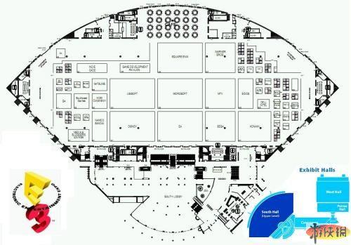 e3 2009参展厂商展位布局平面图放出