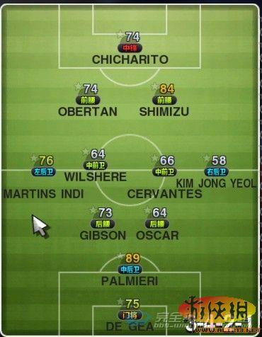 《实况足球2011》绝对控制阵型